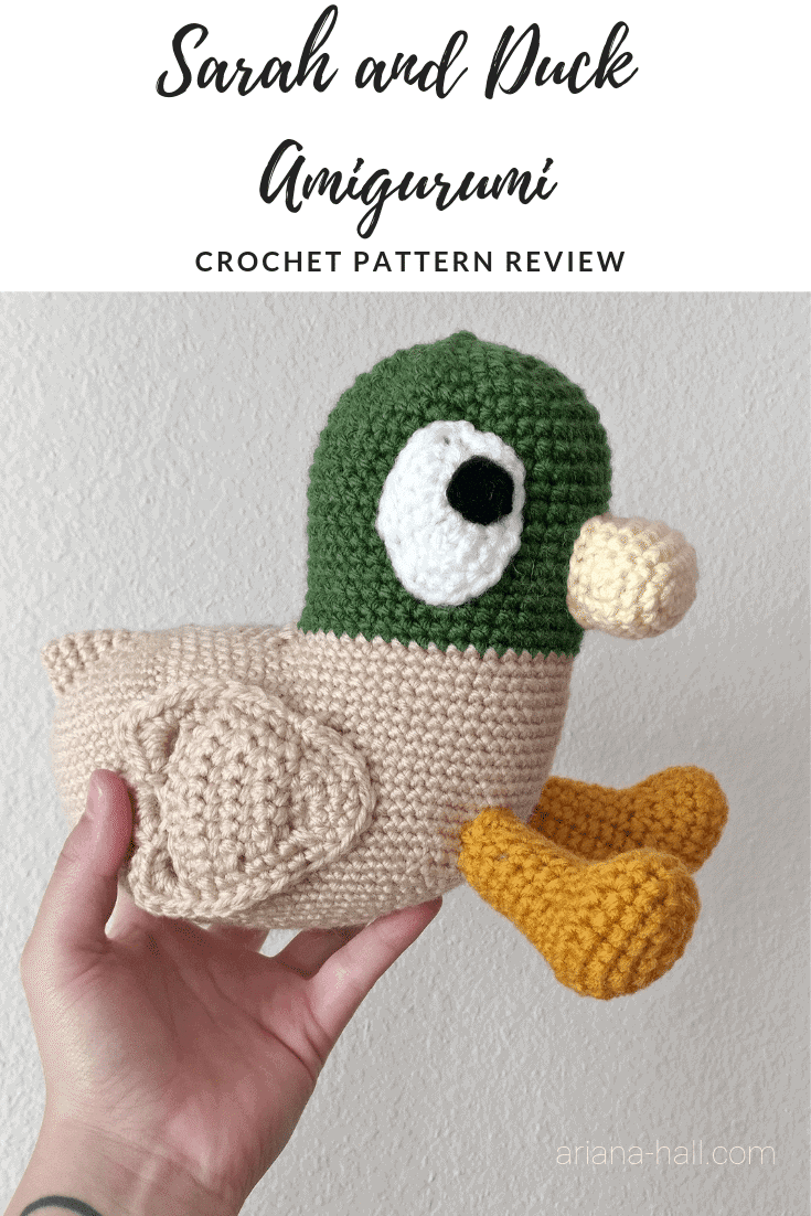 Sarah and Duck crochet amigurumi pattern review banner