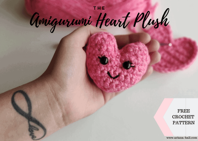 Easy crochet heart FREE PATTERN - KNITTED STORY BEARS | 480x672