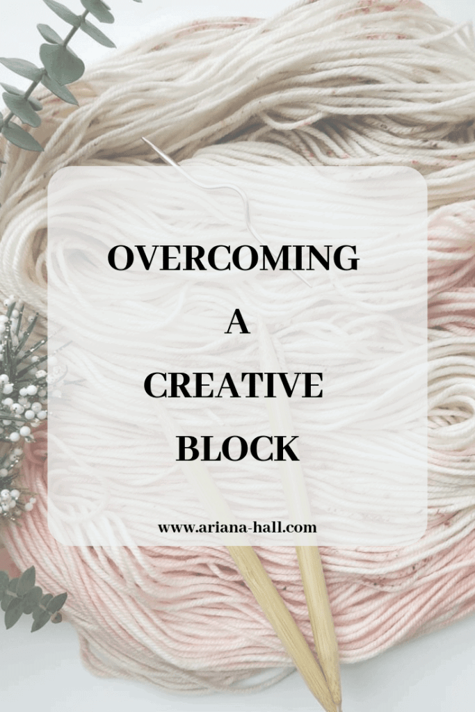 Small banner showing overcoming a creative block by Ariana Hall