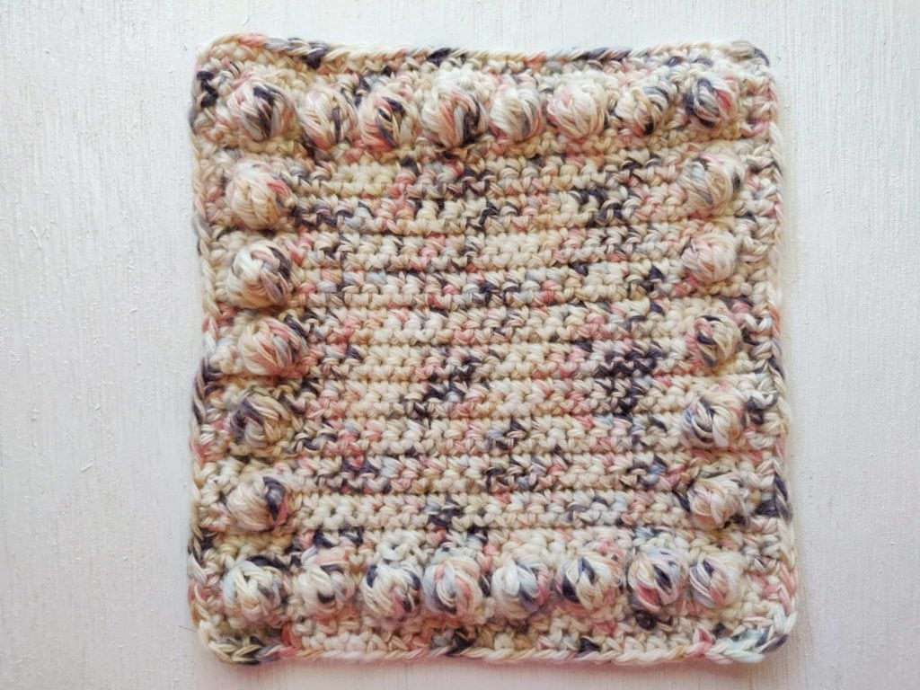 Insanely crazy colored trippy pattern crochet art fiber yarn coaster