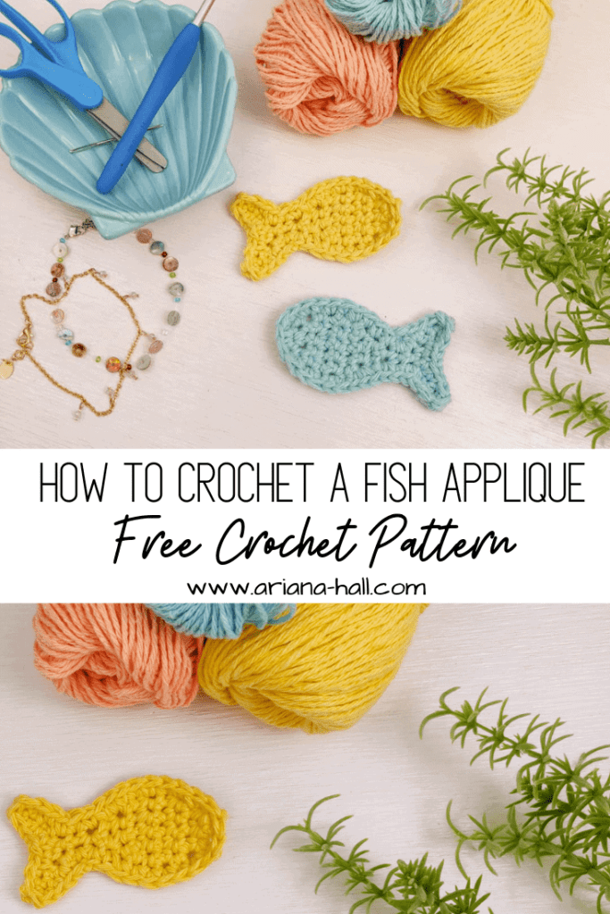 How to crochet fish applique banner