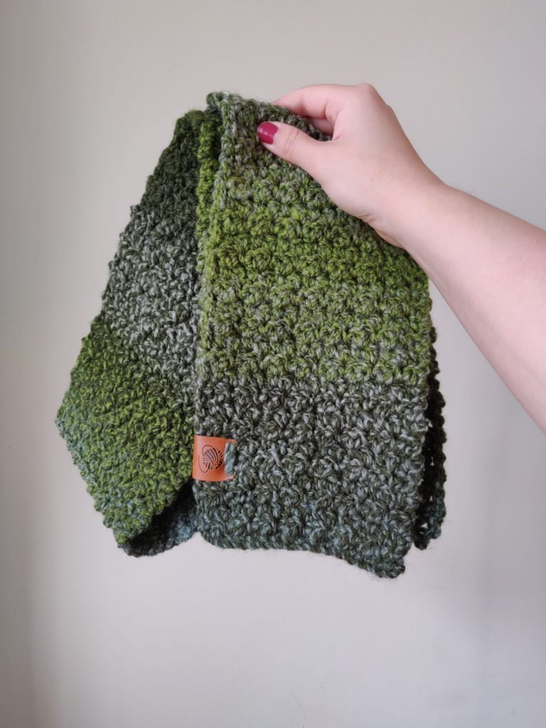 Forest green colored kids scarf