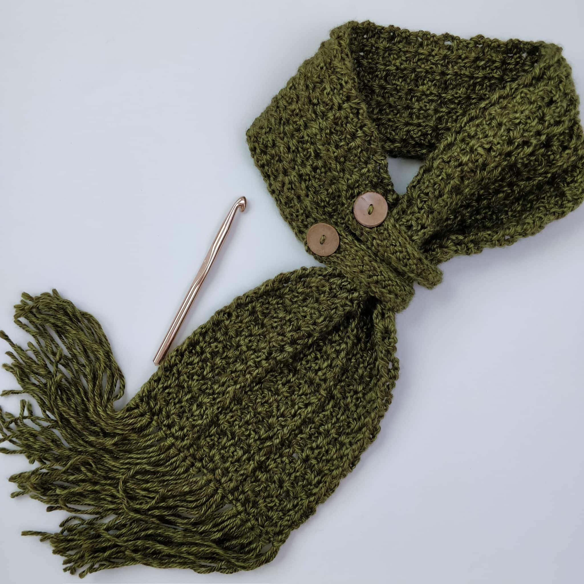 button scarf and hook