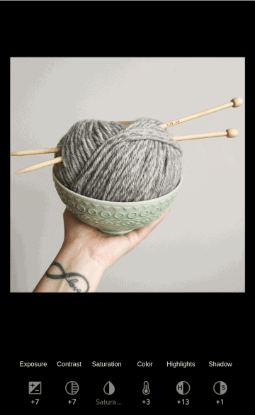 Edited version of yarn ball and sewing needles photo