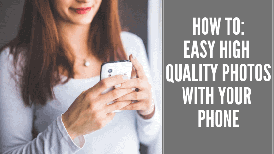 How to easy high quality photo with your phone banner
