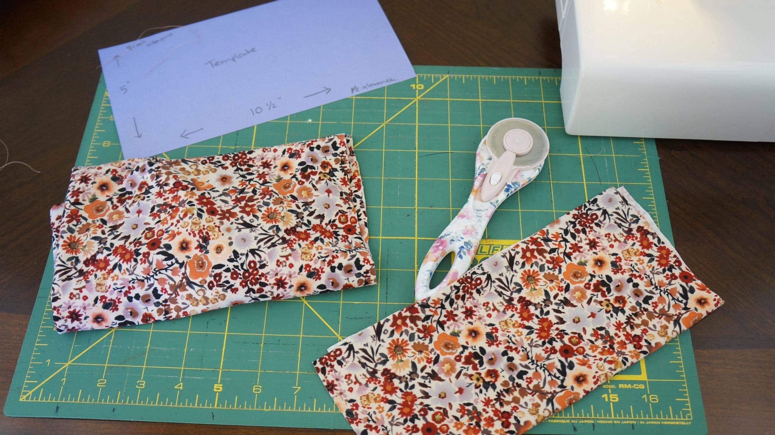 flower fabric measuring
