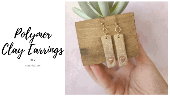 Polymer clay earring DIY tutorial