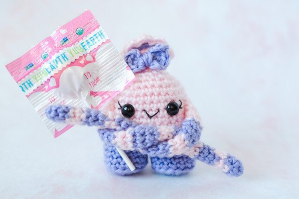 pink and purple amigurumi