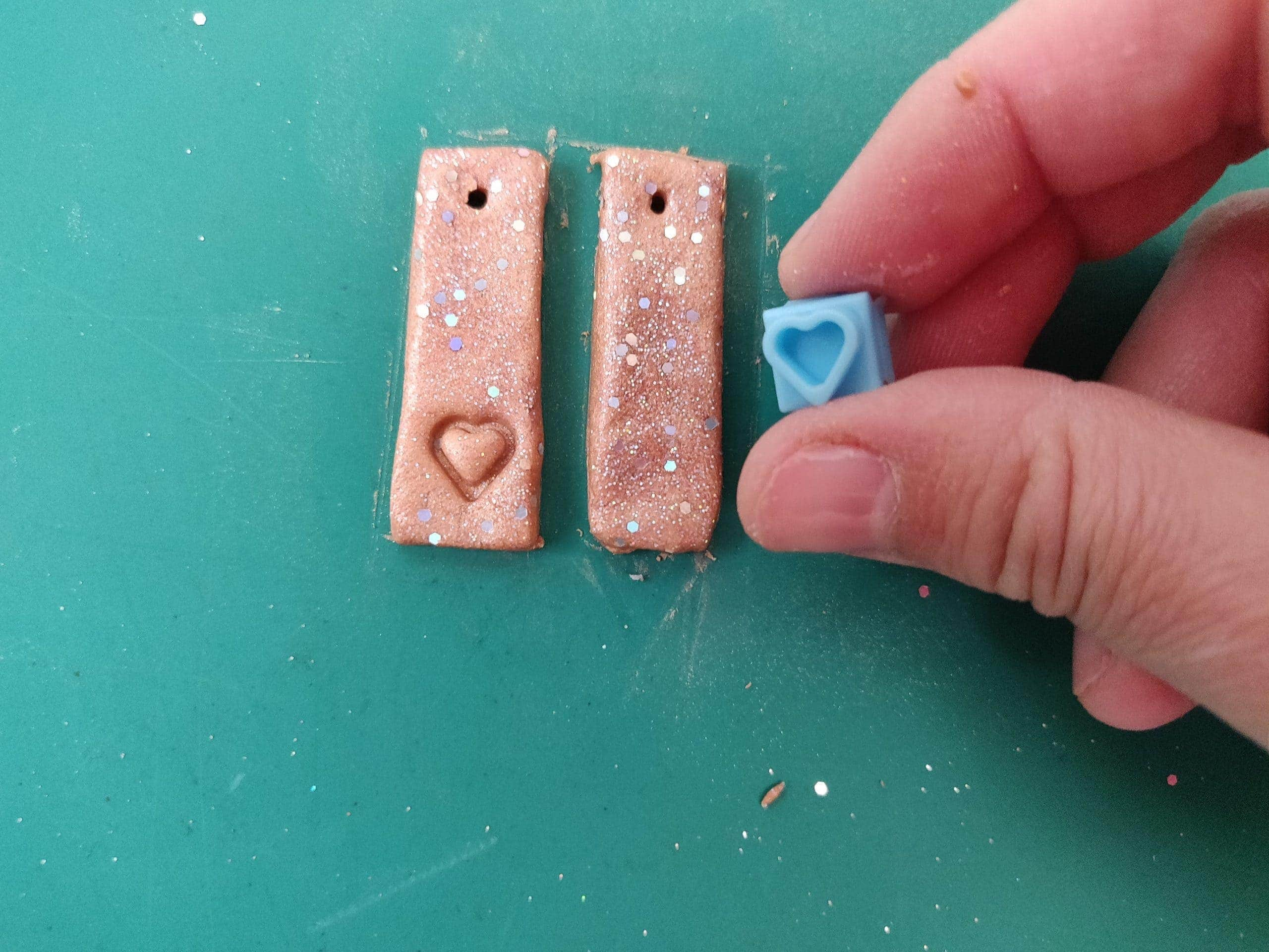polymer clay earrings hearts
