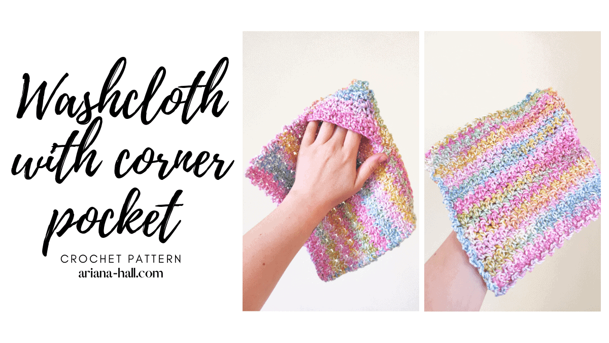 Colorful Washcloth with corner pocket