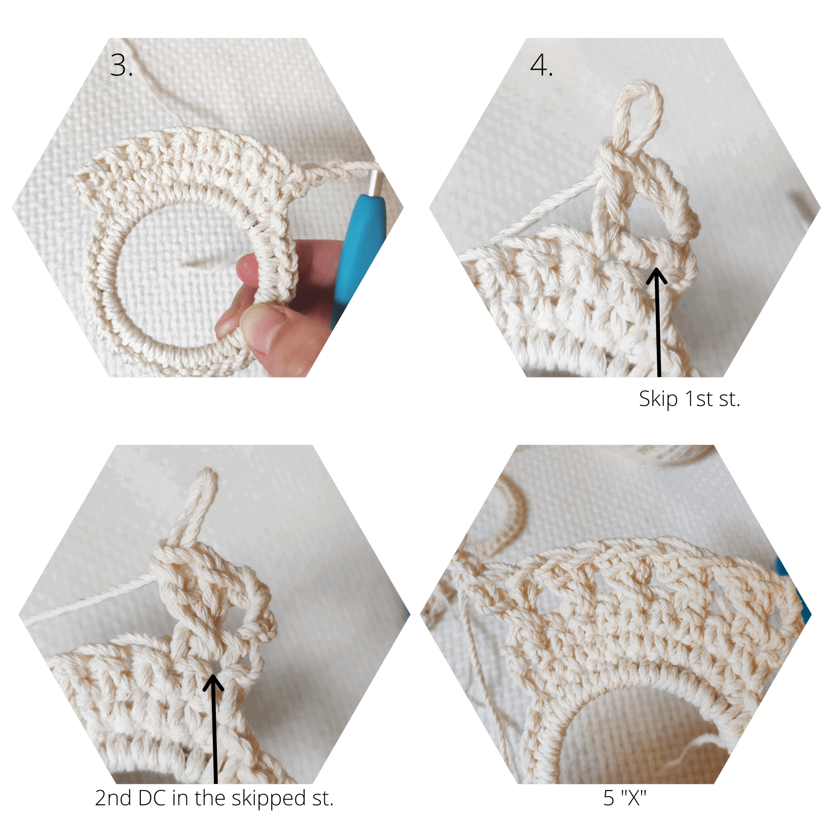 Crochet double crochet special technique how to.