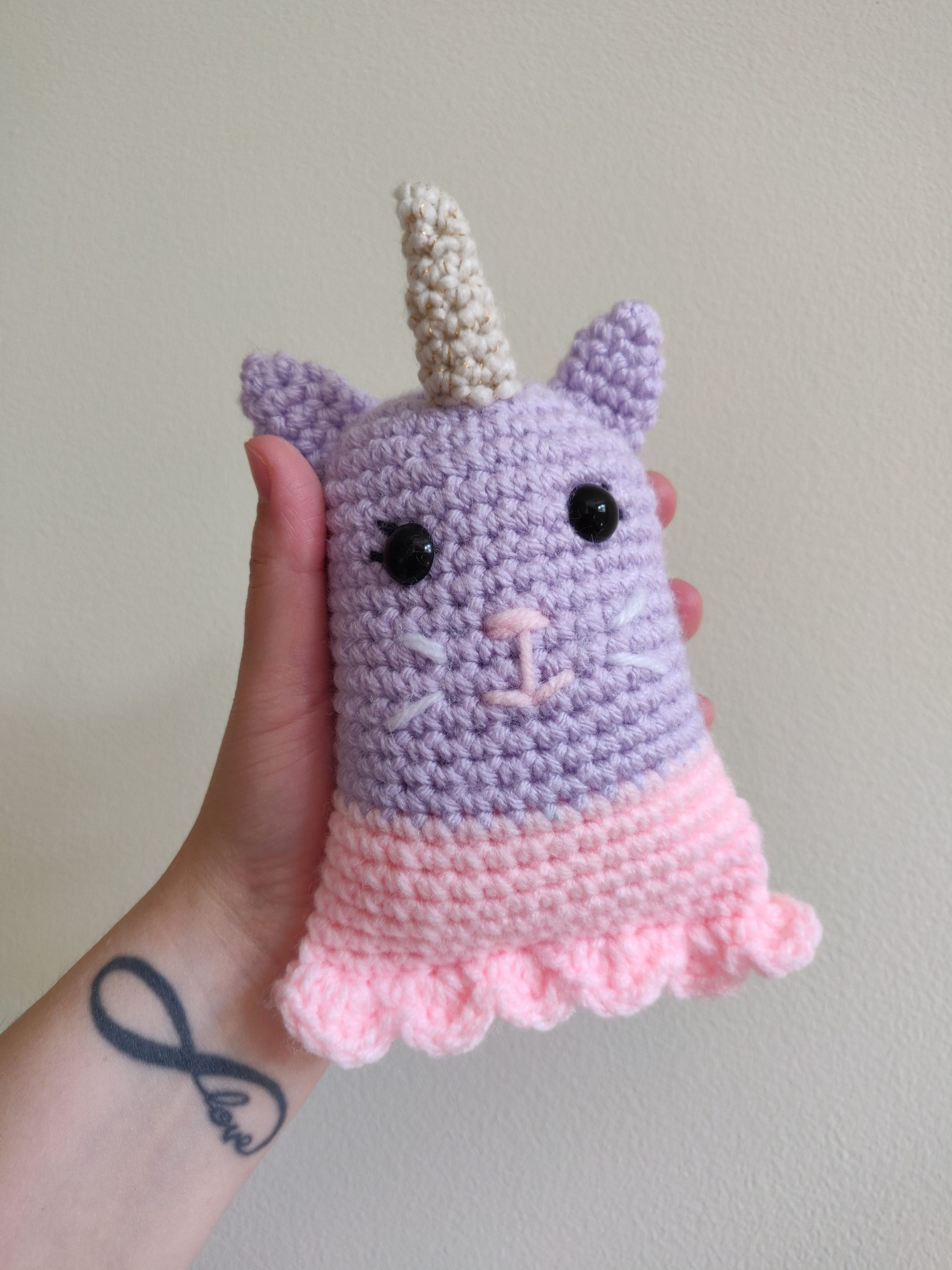 The unicorn kitty crochet pattern.