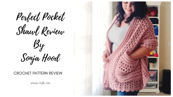 ad for pocket crochet shawl pattern