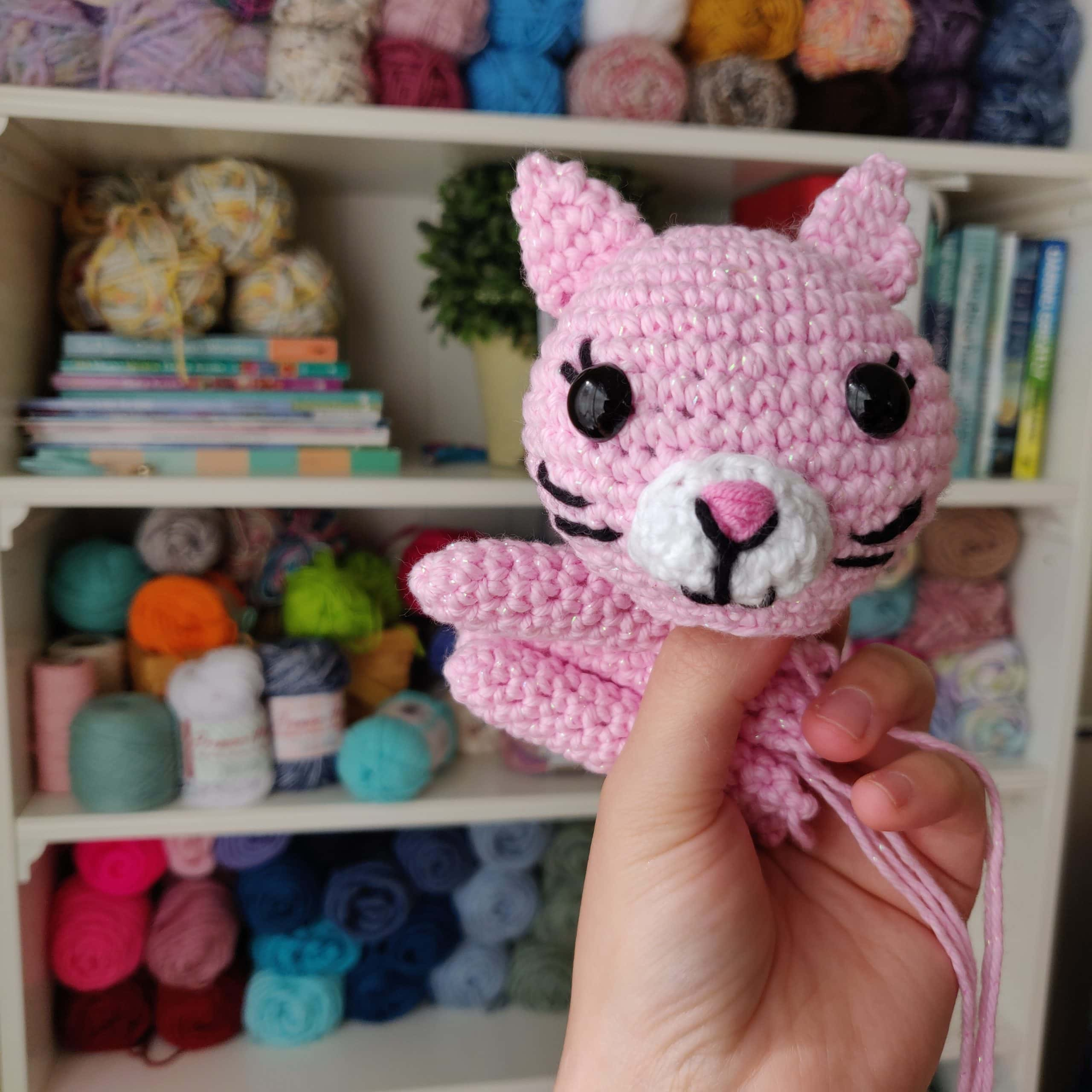 Crochet cat face