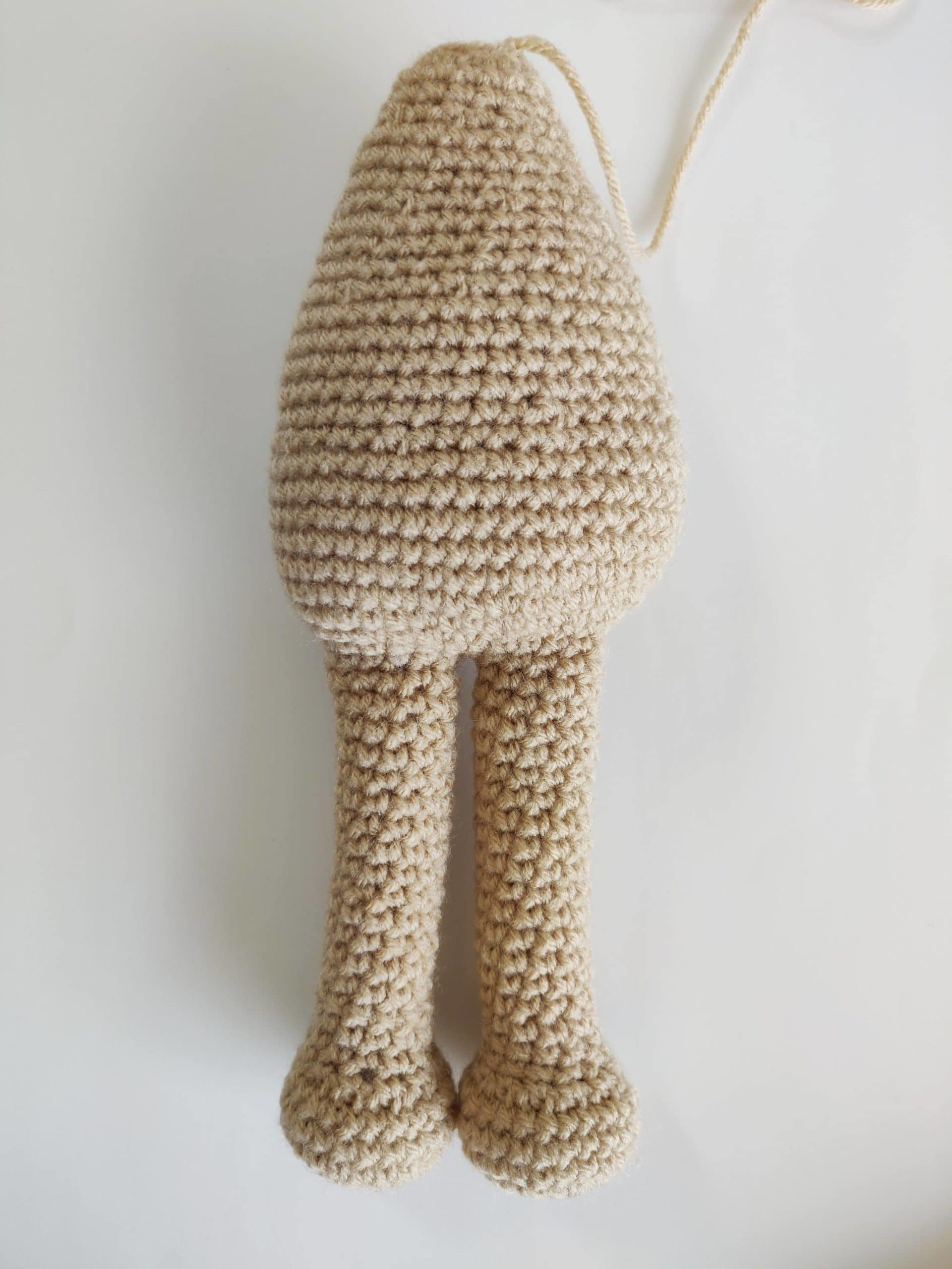 Crochet legs and body of snuggle pup