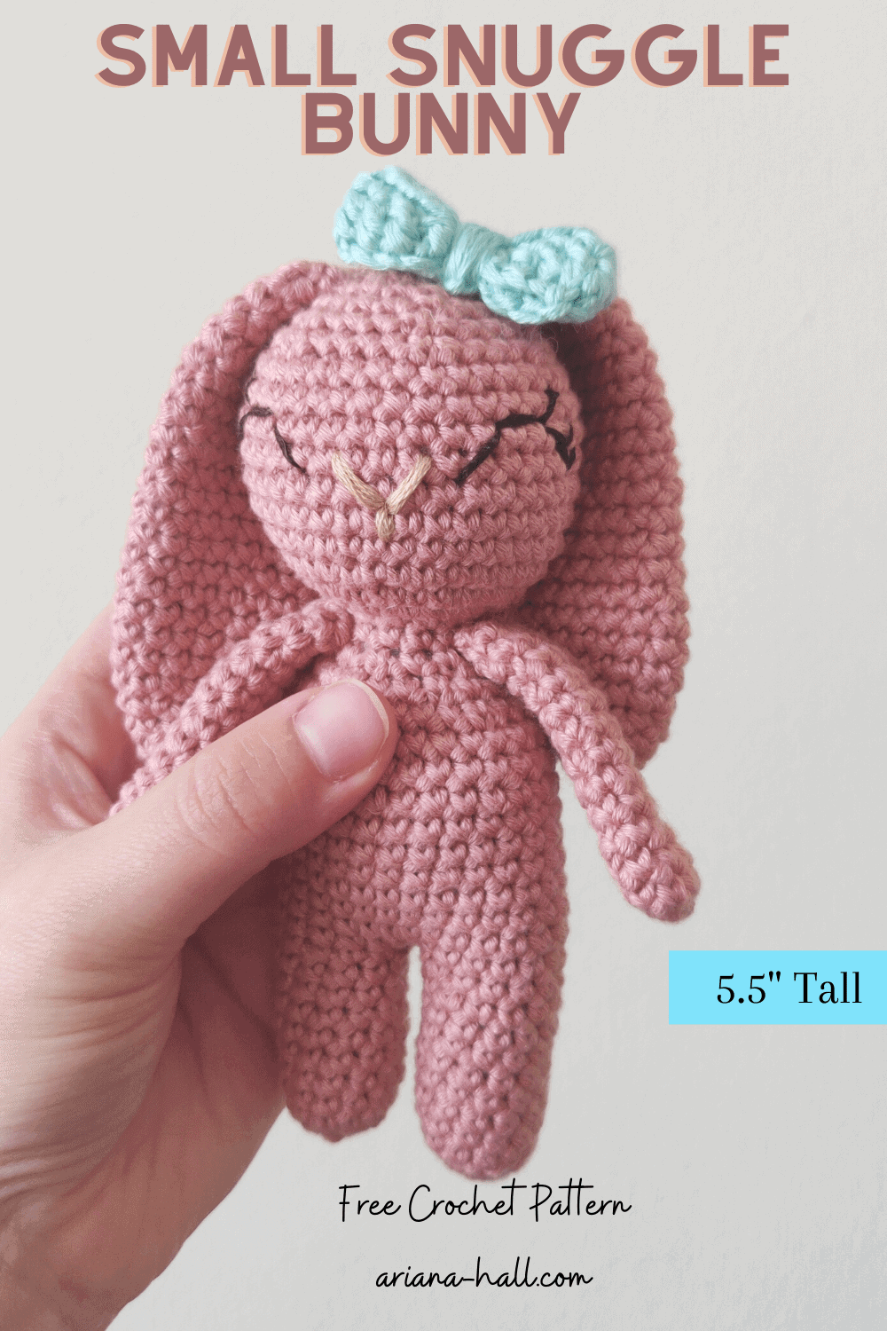 advertisement for small snuggle bunny pattern.