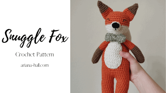 Crochet Fox with Green bow tie