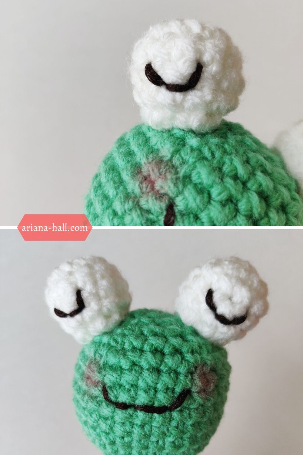 Crochet green frog pattern by ariana hall