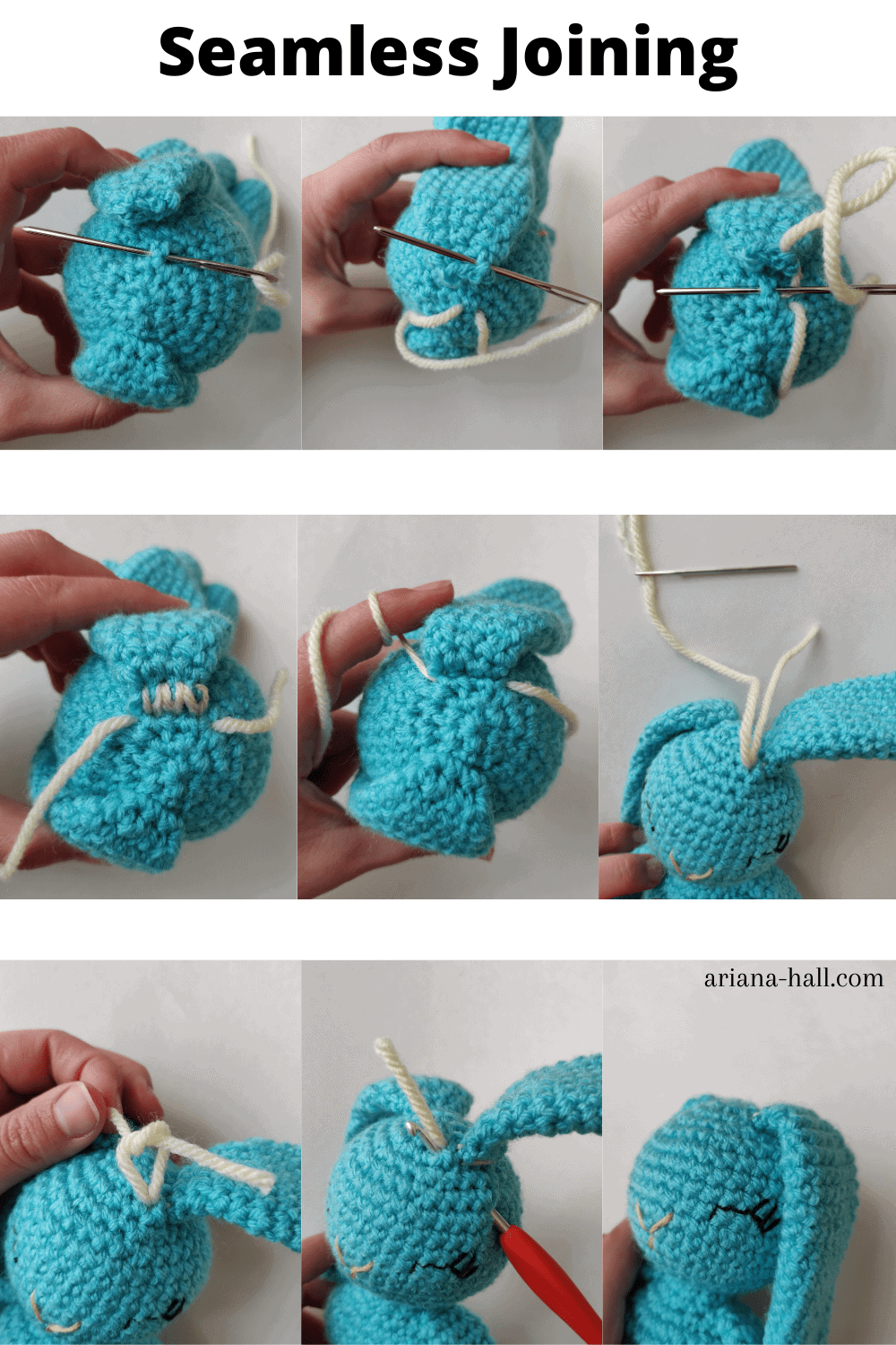 How to seamless Join amigurumi part steps.