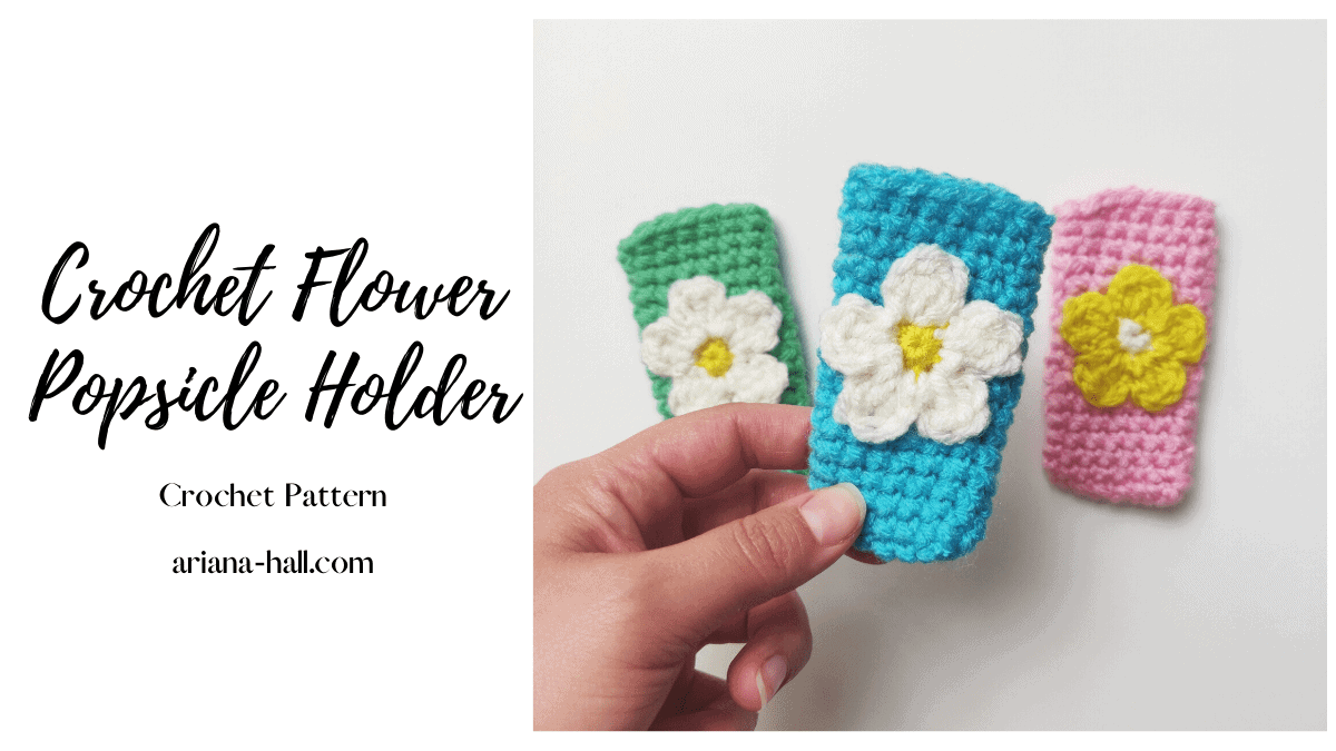Crochet popsicles holder made with yarn.